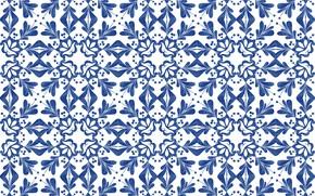 Картинка синий, узор, орнамент