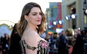 Картинка взгляд, поза, макияж, актриса, певица, фотосессия, hair, Anne Hathaway, Энн Хэтэуэй
