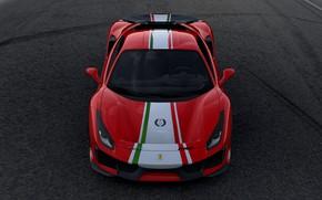 Картинка Ferrari, вид спереди, 2019, 488 Pista Piloti Ferrari