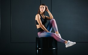 Картинка sitting, leggings, sports Fashion