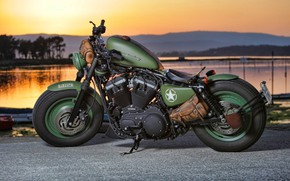 Обои Harley Davidson, Bike, Motorcycle