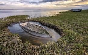 Картинка природа, берег, лодки