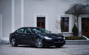 Картинка Maserati, Black, Ghibli