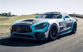 Картинка Mercedes-Benz, AMG, GT4, 2019