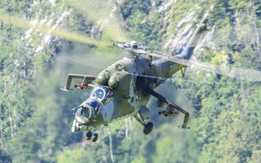 Картинка вертолёт, российский, ударный, Mil Mi-35 Hind