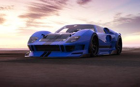 Картинка Ford, Авто, Машина, Ford GT, Art, Суперкар, Рендеринг, Concept Art, Ford GT40, Transport & Vehicles, ...