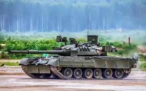 Картинка полигон, Т-80У, Основной боевой танк России