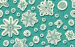 Картинка снежинки, фон, текстура, snowfall