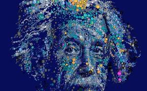 Картинка взгляд, портрет, символы, ученый, Editorial Illustration