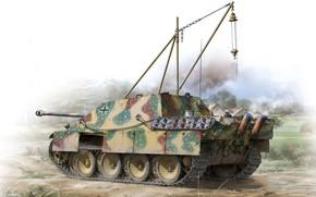 Картинка Германия, Jagdpanther, Истребитель танков, Бронетехника, Самоходная артиллерийская установка, Jagdpanther Sd.Kfz.173