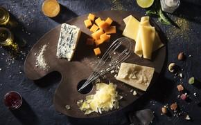 Картинка еда, сыр, палитра, натюрморт