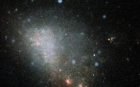 Картинка NGC 346, Small Magellanic Cloud galaxy, Digitized Sky Survey 2
