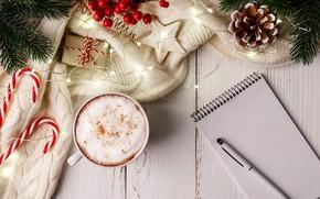 Картинка украшения, Новый Год, Рождество, кружка, Christmas, cup, New Year, decoration, xmas, Merry, hot chocolate