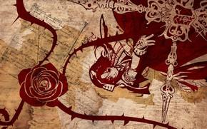 Картинка девушка, текстура, арт, Rozen Maiden
