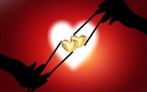 Картинка love, heart, stick