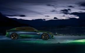 Картинка темно, купе, BMW, профиль, 2018, M8 Gran Coupe Concept