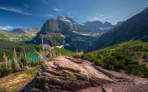 Картинка пейзаж, горы, природа, красота, склон