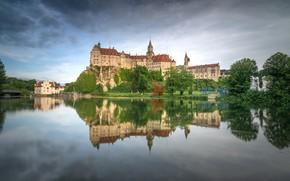 Картинка река, замок, Германия, Баден-Вюртемберг, Schloss Sigmaringen