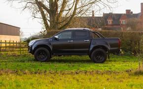 Картинка чёрный, пикап, в профиль, Isuzu, 2020, Arctic Trucks, D-Max, UK version, AT35