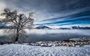 Картинка Winter, Bern, Swiss Alps