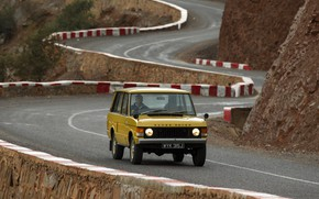 Картинка асфальт, Land Rover, Range Rover, 1970, горная дорога, 4x4, SUV