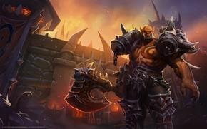 Картинка Fantasy, Blizzard, Warrior, World of WarCraft, WarCraft, Illustration, Characters, Garrosh Hellscream, Garrosh, Mr--Jack, by Mr--Jack, …
