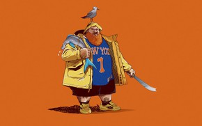 Картинка Минимализм, Чайка, Рыба, Арт, Art, New York, Rap, Knicks, Fan Art, New York Knicks, Hip …