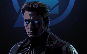 Картинка мужчина, капитан Америка, Avengers Endgame