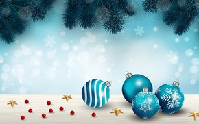 Картинка звезды, снежинки, ветки, праздник, игрушки, Зима, Снег, ели, Рождество, Фон, Текстура