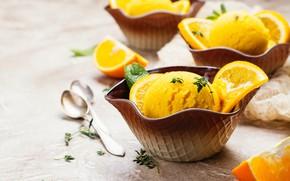 Картинка мороженое, десерт, апельсиновое, Iryna Melnyk