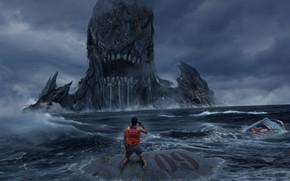 Картинка No Escape, weihao wei, нет выхода, Побег невозможен, Когда он поднимется из океана, there is …
