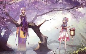 Картинка парк, девушки, Vocaloid