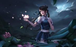 Картинка Girl, Fantasy, Art, Style, Illustration, Character, kongjian bo