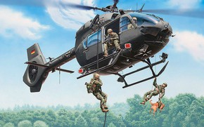 "Картинка Airbus Helicopters, H145M LUH ""KSK"", Kommando Spezialkräfte der Marine (KSM), Многоцелевой вертолет"