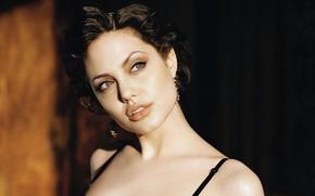 Картинка взгляд, девушка, лицо, Angelina Jolie