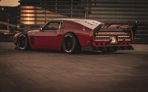 Картинка Ford, Shelby, GT500, Красный, Авто, Ретро, Машина, 1969, Car, Автомобиль, Muscle car, Вишневый цвет, Бордо, …