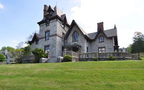 Картинка вилла, архитектура, exterior, Gothic Villa in Irvington, N.Y. North Broadway, Ирвингтон, Irvington