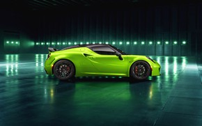 Обои вид сбоку, 2018, Green Arrow, Centurion, Alfa Romeo 4C, Pogea Racing