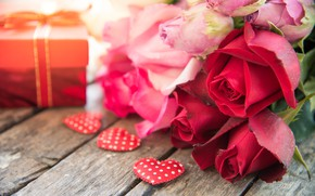 Картинка любовь, сердце, розы, красные, red, love, heart, pink, flowers, romantic, gift, roses