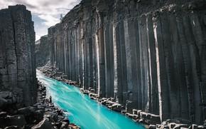Картинка горы, природа, река, Iceland, East, Norður-Hérað