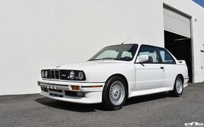 Картинка White, German car, BMW E30 M3