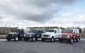 Картинка стоянка, прототип, Land Rover, Defender, 2013, All-terrain Electric Research Vehicle
