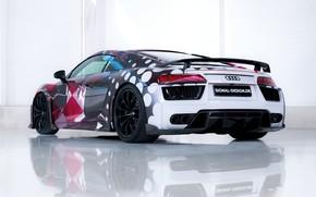 Картинка суперкар, Audi R8, вид сзади, 2018, ABT, Signal Design