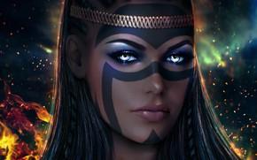 Картинка взгляд, девушка, лицо, The Elder Scrolls Online