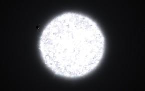 Картинка Звезды, Планета, Космос, Звезда, Свет, Планеты, Fantasy, Planets, Арт, Stars, Space, Art, Спутник, Planet, Фантастика, …