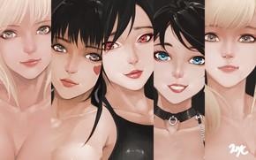 Картинка девушки, рисунок, аниме, арт