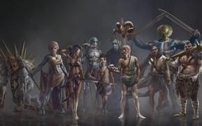 Картинка люди, маски, племя