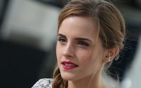 Картинка портрет, макияж, актриса, Эмма Уотсон, Emma Watson, model, hair, фотомодель, actress