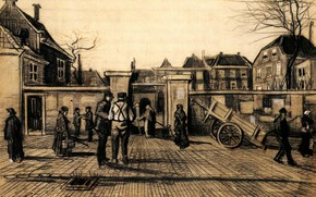 Картинка Vincent van Gogh, The Hague, Entrance to the, Pawn Bank