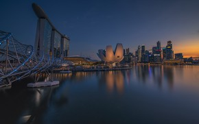 Картинка дома, вечер, панорама, Сингапур